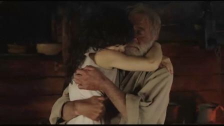 """海蒂和爷爷:爷爷给海蒂做了一把椅子,海蒂高兴地抱住爷爷,""""小奶音""""的声音太好听了"""
