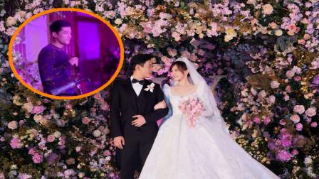 唐嫣罗晋婚礼现场,胡歌深情献唱,网友:被演戏耽误的歌手!