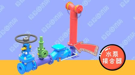 【3D模型】稳稳消防工程师消防水泵接合器各组件作用动画讲解
