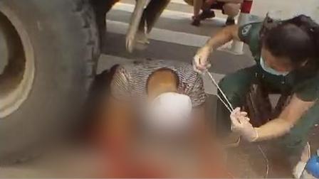 男子遭重20吨大货车碾压 女护士钻车底救人:20分钟后背湿透