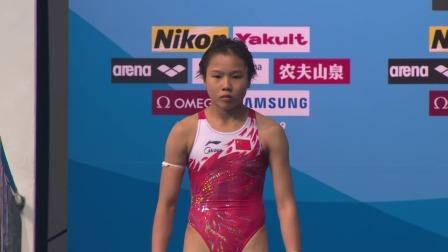 女子10米跳台决赛-中国选手卢为 2019 FINA游泳世锦赛 39