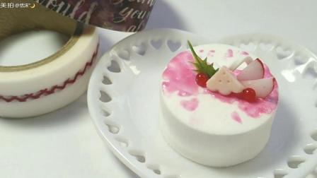粉色系纸黏土蛋糕教程