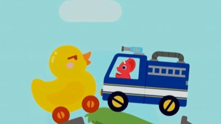 恐龙碰碰车汽车总动员 赛车与儿童汽车游戏 恐龙车对对碰 比赛开始了 陌上千雨解说