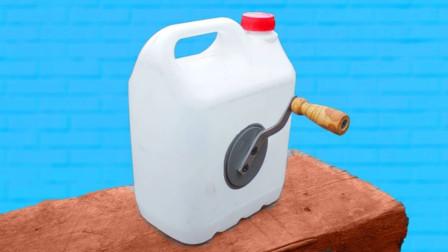 家里的油壶用完千万别扔,稍微洗洗跟着老外就能改成收线机!