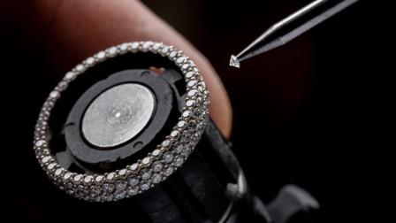 老外自制铂金钻戒,网友:看成品根本数不清有多少克钻石!
