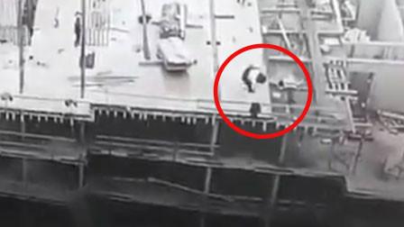 工人强行拉拽起重机缆绳被拖走 撞散围栏直坠8楼身亡