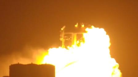 """马斯克火星计划测试模型突然起火 """"星际飞船""""变成大火球"""