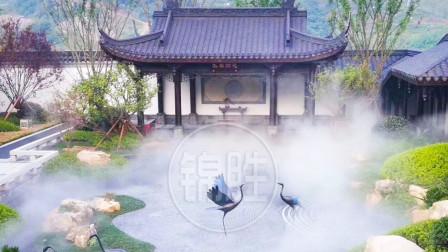 蓝光芙蓉公馆景观喷雾造景,园林庭院人造雾景,高端品质风味