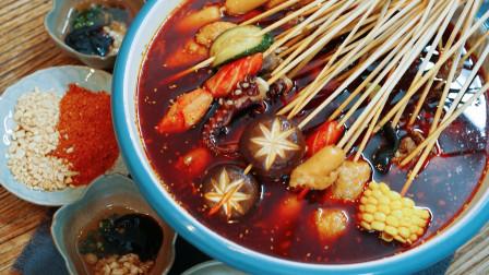 三个广东人的狂欢,无辣不欢,弄个冷锅串串过夏日