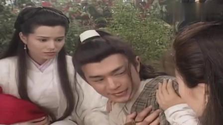 杨过为救两位美女与李莫愁开战,这打法李莫愁也怕,真狠又被扎了