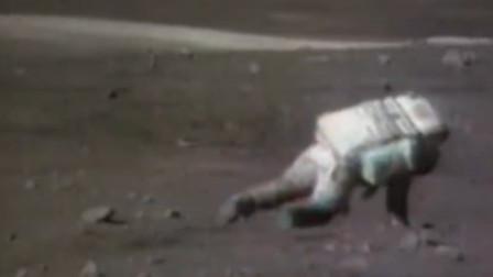 首次登月爆笑镜头公开:宇航员失重频频跌倒