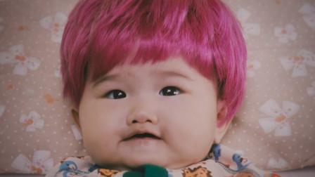 宝宝一出生就是红头发,出生10天就能说话,喊着让妈妈换尿布!