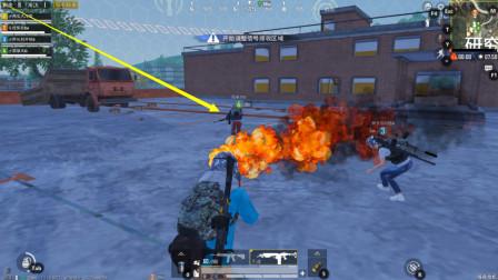 和平精英:首次体验暗夜危机模式,这把喷射器火烧僵尸太爽了!