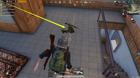 刺激战场:同一间房子捡到两把空投枪, AUG+AWM,运气太好了!