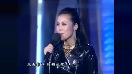 田震《风雨彩虹铿锵玫瑰》很女强人的歌手,很有磁性的歌声