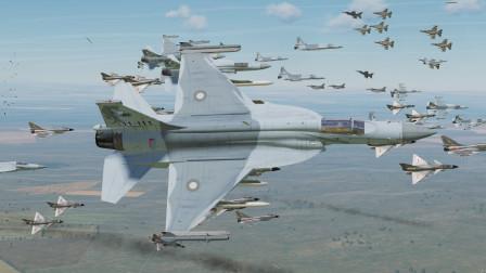 50架枭龙战机 跟 50架歼10!能否招架住美军80架F16的攻击?战争模拟