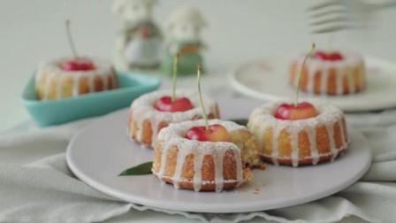 樱桃磅蛋糕 造型可爱 软弱香甜 樱桃控们制作起来吧
