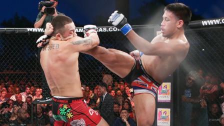 抗击打能力多强 实力就有多强 鞭腿爆头没能击倒对手!