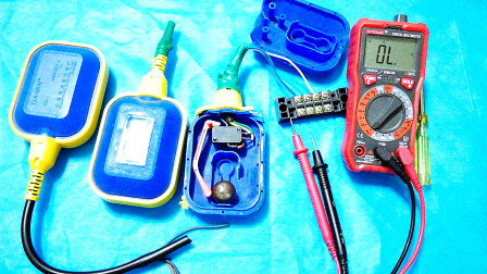 一个浮球,一个接触器,一个指示灯,给你演示自动排水和补水电路