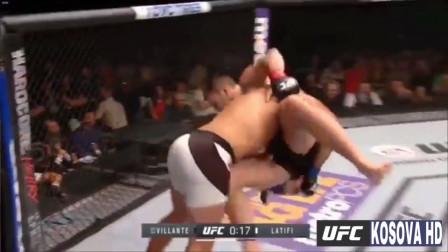 刚猛无双!UFC猛兽拉提菲凶残集锦!
