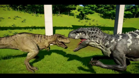 爪龙击杀霸王龙 恐龙动漫