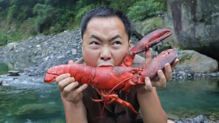 农村小伙花360元买一只波士顿龙虾,做一个叫花大龙虾,吃一口就是几十块