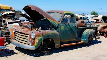 修车鬼才?修复1950年GMC皮卡车,一脚油门竟然可以行驶
