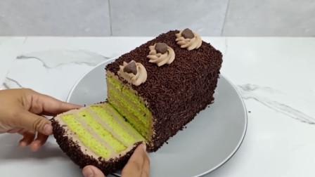 自制冰米洛蛋糕,方法简单,新手也能学会