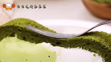 抹茶蛋糕卷,质感超诱人,是夏日里的一抹小清新