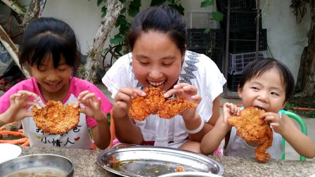 燕子10元买3个大鸡排,简单一做,干净卫生,金黄酥脆,吃着放心