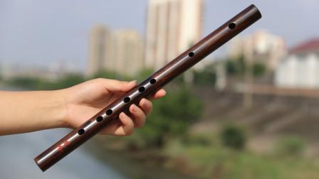 楚吟 梦兮老师 试吹无膜孔F调老红木短笛《笑傲江湖》主题曲《沧海一声笑》实木短笛