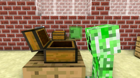 我的世界动画-怪物学院-开箱有喜-MoshiMoshieCraft