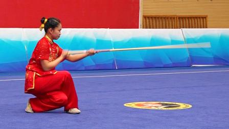2018年全国青少年武术套路锦标赛 B组 女子棍术 007 马思尚(河北体院)第八名