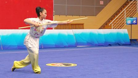 2018年全国青少年武术套路锦标赛 B组 女子棍术 008 张雅淇(北京)第一名