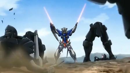 机动战士高达:能天使七剑装备首次登场!剑还是要用来扔的