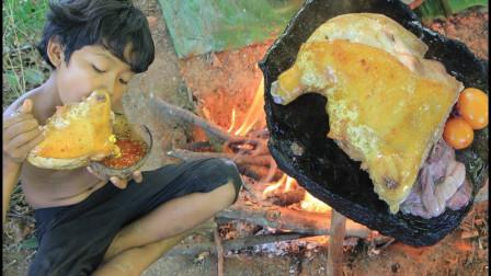 真的是超级美味的烤鸡腿哦,快来看看小帅哥是怎么做的吧,太香了