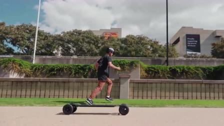 滑板+跑酷:高手原来还可以搭配着一起玩转极限运动,666