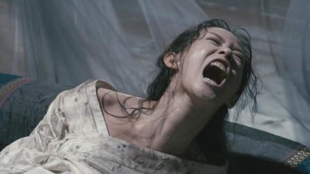 美女怀孕后变得发狂,几个大汉都摁不住她,不料肚子里钻出个怪物