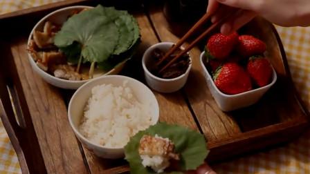 《韩国农村美食》干了一上午的活,中午饭菜虽然简单,但吃着香