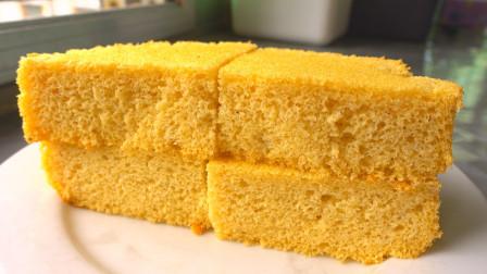 松软的豆面蛋糕制作教程,表面一层香浓的豆粉,口感特别棒
