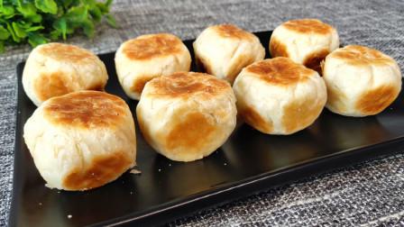绿豆酥饼不用出去买,教你新做法,不用烤箱,酥脆掉渣又解馋