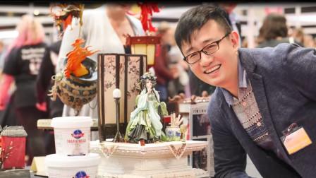 """中国80后""""糖王"""",把古代美人做成了蛋糕,作品享誉全世界!"""