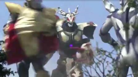 融合佐菲力量的尊皇形态,联合赛罗才打败加拉特隆王!