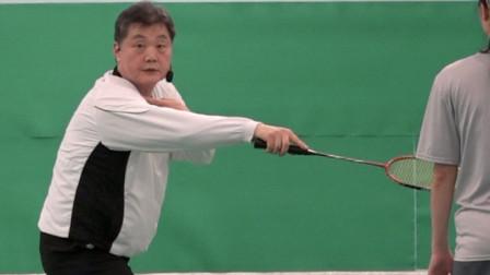 羽毛球: 第17课。单打比赛中另一种不同的脚步移动技巧的概念 - 第3节. 如何完成反手左前角?