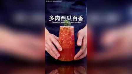 网红水果茶: 多肉西瓜百香的做法, 超级简单~