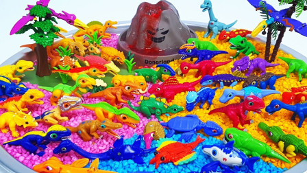 恐龙乐园小恐龙模型玩具展示