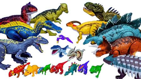 远古生物霸王龙三角龙恐龙玩具介绍