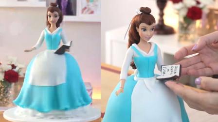 美丽的迪士尼公主,其实是翻糖蛋糕做的,快来看你认识她吗?