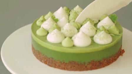 星巴克美味的抹茶蛋糕是这样做的!美味简单,在家就能轻松搞定