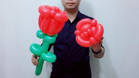 丘丘长条魔术气球免费教程之 常用玫瑰花造型(一)